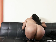 Big fucking tits, perfect fat fucking ass, loves to suck dick and her favorite position just so happens to be doggy and boy do we enjoy watching her take it that way.