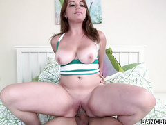 That's when our chico Bruno Dickens gave her the business in the bedroom pounding her pussy wet.