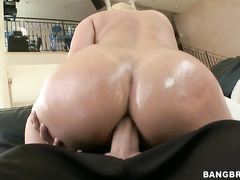 Katja Kassin is a sexy blonde with an amazing body that takes a huge dick up his ass.