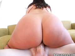 First sexy Kristina Rose striped down for us to give a peek of her toned voluptuous ass and then our veteran Sara jay came along for a fuck session.