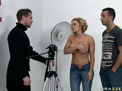 In this scene Krissy plays an overpriced model whose filthy attitude needs a little discipline; Keiran who has a history of straightening up girls with cocky attitudes.