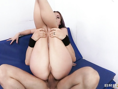 By taking on some intense stretching followed by Erik's big cock, Sierra will prove her ass is up to the challenge.