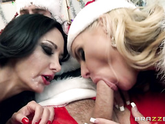 Claus, so one of his elves brought in a couple of big booty sluts named Ava Addams and Phoenix Marie to try out for the part.
