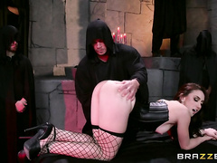 Her patron kicked things off by teasing a butt plug into her asshole, teasing her with the sensations of anal sex and warming her up for the intense sex to follow.