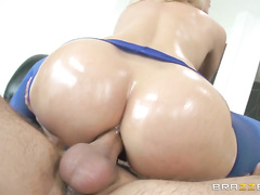 She sucked and stroked Keiran's big dick, giving him an unforgettable sloppy deepthroat blowjob and even a nice footjob.
