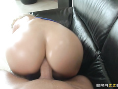 She fucked that fat cock, rubbing her clit until she came as Keiran fucked her tight little asshole.