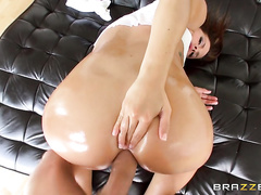 Roxxi and zoey got passed around as each stud banged their tight pussies and some anal action.
