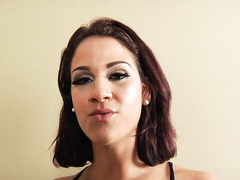 Curvy brunette ''Miss Raquel'' is the lucky ho who gets L.