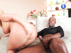 Julie Cash Comes In for Interracial Anal 5.