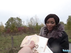 Public Agent British Ghetto Queen Kiki Minaj Fucked Outside