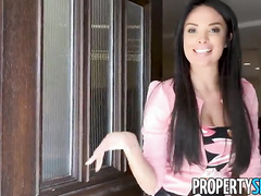PropertySex - Virgin fucks insane sexy French real estate agent with huge natural boobs
