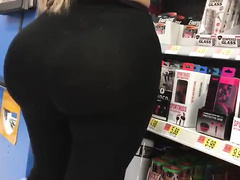 Fake Latina butt showing her huge booty
