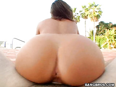 In front of everyone she took off her panties and showed off her round,luscious,big,tanned Vanessa Lee ass.